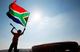 Flag waver outside Soccer City